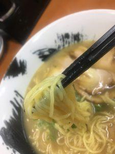 餃子の王将_徳島駅前店_ラーメン麺