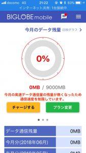 BIGLOBEモバイル-通信容量